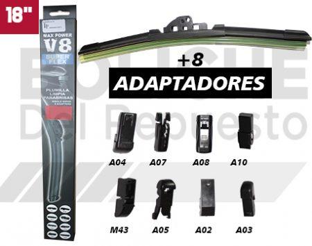Plumilla 18 Limpiaparabrisas Blade 8Ax1pc V8