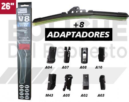 Plumilla 26 Limpiaparabrisas Blade 8Ax1pc V8