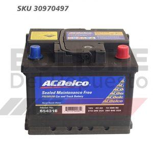 Bateria ACDelco 54316 43AH CCA380 (- +)
