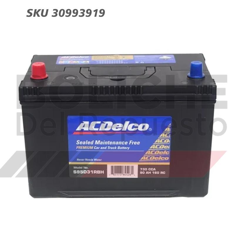 Bateria ACDelco 95D31LBH 90AH CCA730 (- +)