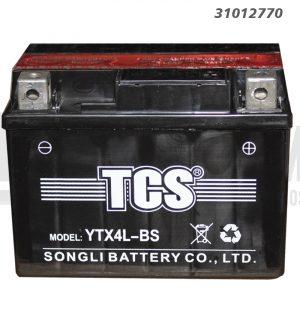 Bateria Moto TCS YTX4L-BS 3 Amp - +