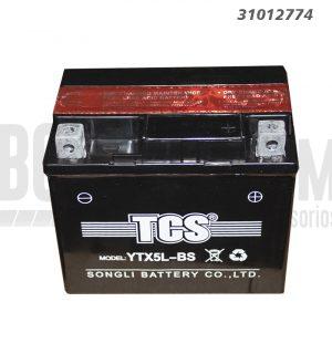 Bateria Moto TCS YTX5L-BS 4Ah - +